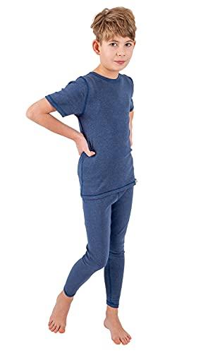 Silver25 - Leggings para niño con neurodermitis, color azul vaquero, azul vaquero, 98-104 cm