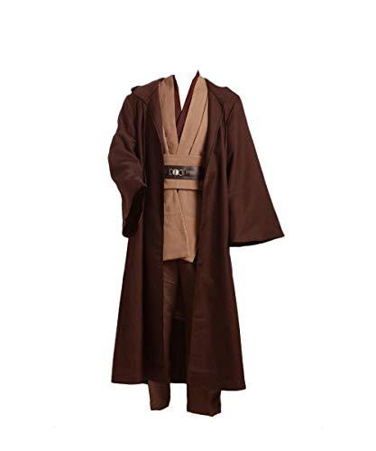Disfraz de Guerrero Medieval para Hombres Disfraz de Star Conjunto Completo Marron, XL