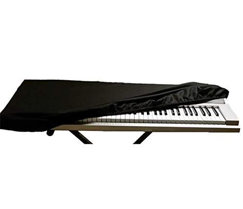 Tebery 88 Tastatur Klavierabdeckung Elektronische Klavier Abdeckung Klaviertastatur Staub Abdeckung Tastatur Staubschutz Tastaturabdeckung Schutz für Klaviertastatur, Dehnbare (schwarz)