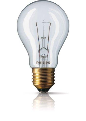 Normallampe 60 Watt E27 klar 24 Volt - Philips 60W 24V