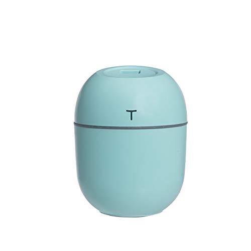 JINGBU 2020 ultrasónico mini humidificador de aire 200 ml aroma difusor de aceite esencial para el hogar coche USB niebla rociador con luces LED noche azul