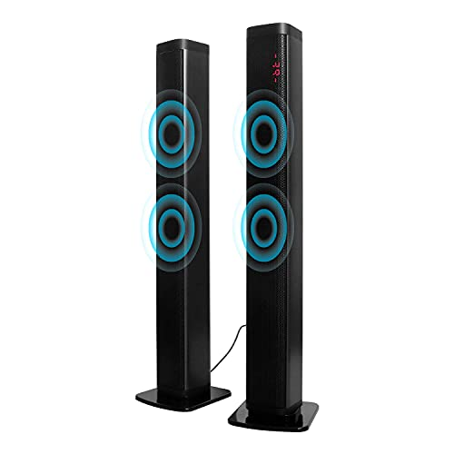 """Bluetooth Wireless Sound Bar Portable Soundbar for Home Theater Wireless Speakers 3D Surround Sound with Built-in Subwoofers for TV PC Phones Tablets with Remote Control 40W(37"""")"""
