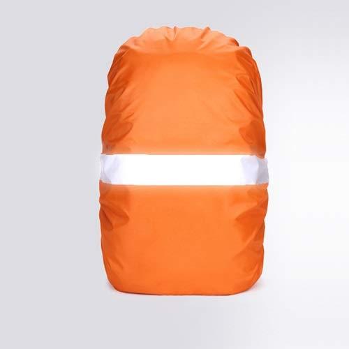 NO LOGO L-Yune, Funda for Lluvia Mochila Reflectante 20L 35L 40L 50L 60L Bolsa Impermeable Camo Tactical Acampar al Aire Libre Senderismo Escalada Cubierta de Polvo (Color : Orange, tamaño : 30 40L)