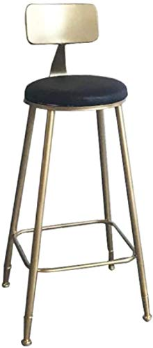 DJXYY Bar Stools Contemporary Barstool Chairs with Back Modern Pub Kitchen Counter Height Faux Leather Seat Black and White-Black_65cm(25.6″)