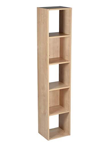 Estante para Livros Falkk Torre 5 nichos 150cm Amadeirada