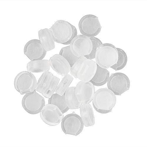 Alvivi 30Pcs Soft Clear Silicone Earring Pads Comfort Earring Backs Earring Cushions Safety Earring Back Pads for Studs Type 3 One Size