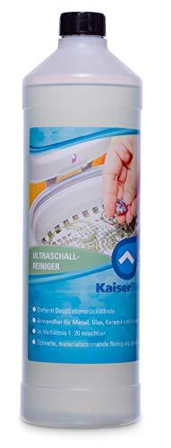 KaiserRein I Ultraschallreiniger Konzentrat I 1000 ml I Zur Reinigung von Metall, Glas und Kunststoff