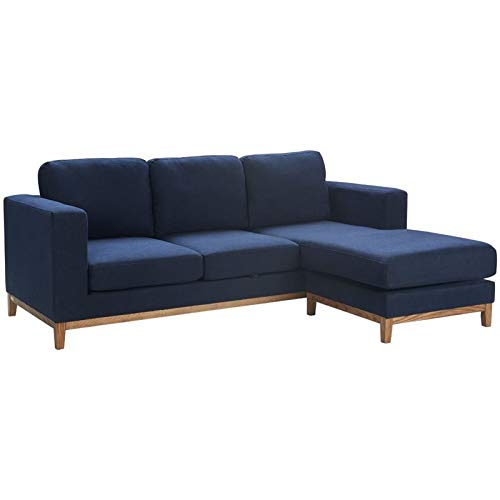 Tommy Hilfiger Berkshire Reversible Sectional with Storage Navy Blue