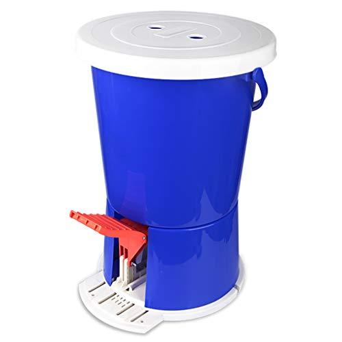 lavadora PIGE Mini Tipo Pedal, diseño portátil y Compacto, sin Necesidad de Utilizar Material plástico PP eléctrico de 2 KG de Capacidad (Azul) para Acampar en un Dormitorio.