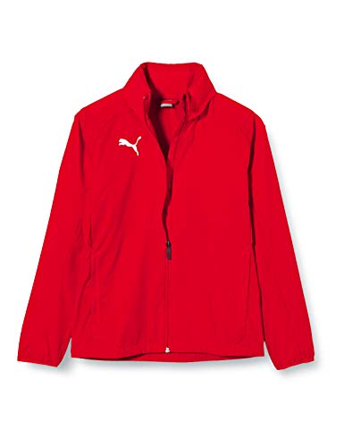 PUMA Kinder LIGA Core Training Rain Jacket, Red White, 164