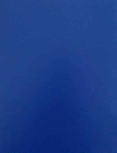KEVKUS Toile Cirée Nappe Table au Mètre Unicolore Bleu Royal Uni 295 Taille au Choix en Carré Rond Ovale - Bleu Roi, 20 m x 140 cm