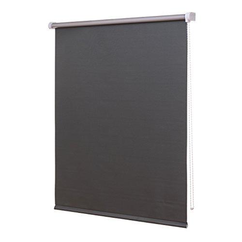 Ventanara Thermorollo Verdunkelungsrollo Grau inklusive Montagematerial 160 x 220 cm