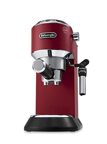 De\'Longhi EC685.R Cappuccino/Macchina per caffè Espresso Manuale, 1350 W, 1 Liter, Plastica, Acciaio Inossidabile, Rosso
