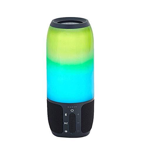 FGVBC Altavoz Bluetooth inalámbrico Portátil Mini Altavoz Bluetooth inalámbrico Multifuncional, Estéreo para teléfono residencial, Subwoofer pequeño para Exteriores, Luces de Colores Impermeables