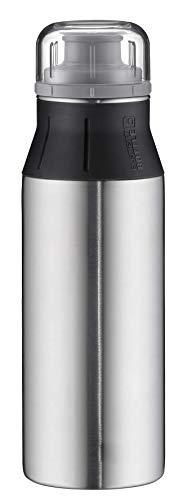 alfi Trinkflasche Edelstahl 600ml - elementBottle Real Pure - auslaufsicher, spülmaschinenfest, BPA-Free,  5357.133.060