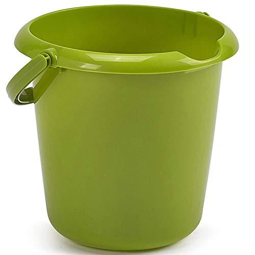 Whitefurze - secchio di plastica, 5 L, colore verde, con manico, utilizzabile per rifiuti o come contenitore