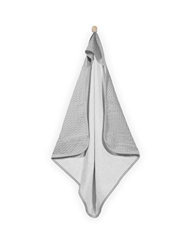 Jollein 534–836–65019 Serviette de bain de bébé, 75 x 75 cm, gris