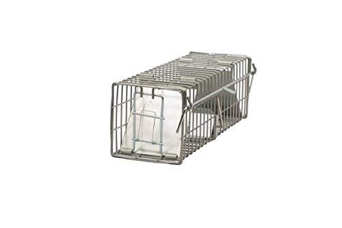 """(2-Pack) - Animal Trap (10""""x3""""x3"""") - Best Humane Animal Trap for Mice, Voles, Shrews and Other Similar Sized Animals. Easy Trap Catch & Release cage with 2 Doors by LifeSupplyUSA"""
