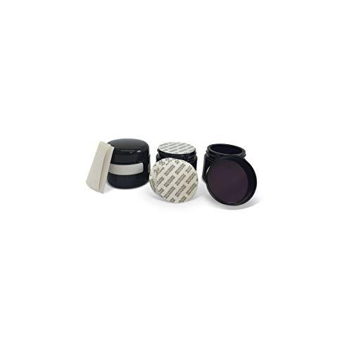 Naturellia - 3x Botella de Cristal Miron 50ml UV Tiegel Ultra Violet Glass - Para el Almacenamiento de sus Productos Sofisticados