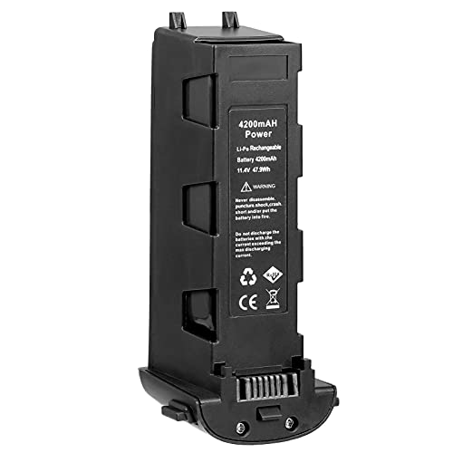 Baugger Substituição para Hubsan H117S Zion & Zino Pro RC FPV Drone 15C de descarga 4200mAh 11,4V Li-Po bateria recarregável