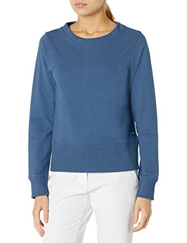 PUMA Golf 2020 Damen Crewneck Zip Fleece, Damen, Sweatshirt mit Rundhalsabschnitt, 2020 Crewneck Zip Fleece, Dunkles Jeansblau, Small