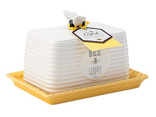English Tableware Company Bee Happy Butter Dish
