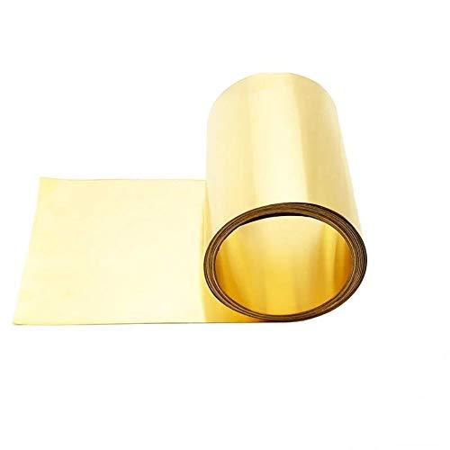 DGPOAD Dicke 0,1/0,2/0,3/0,5 mm 50 mm Breite 1 Meter dünner Bronzestreifen Bronzeplatte Goldfilm Bronzeplatte Bronzeplatte