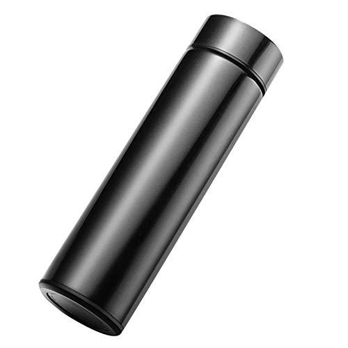 LXHANSPF-lead Vakuum Isolierte Thermosflasche 500ml, Edelstahl Trinkflasche, Intelligente Touch Kaffeebecher mit OLED Temperaturanzeige,Hält heiß oder kalt