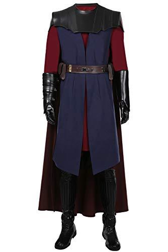 Generic Clone Wars Anakin Skywalker - Costume di carnevale da uomo, colore nero, taglia XL