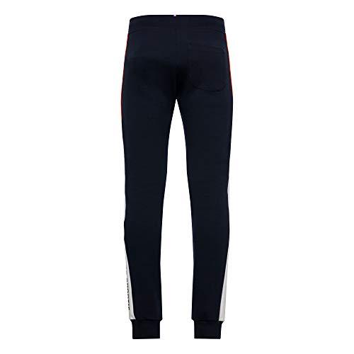 Le Coq Sportif Ess Saison Pant Regular No. 1 – Men's Sweatshirt, Mens, Sweatshirt, 2010433, S.Captain/N.Opt White/Orange, S