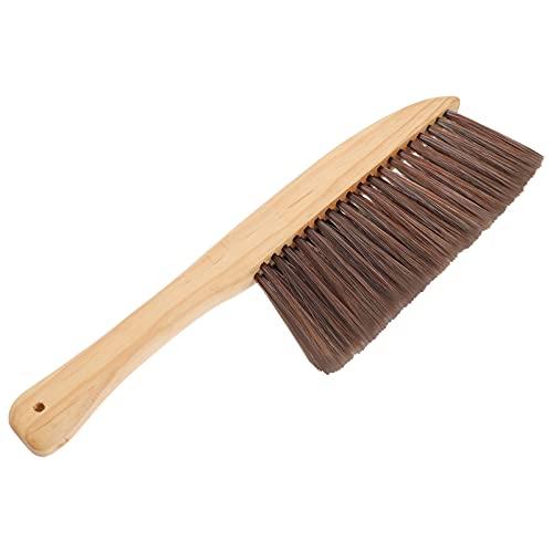 EXCEART Escova macia de limpeza utilitária para balcão, espanador, sofá, cama, depilação, escova de poeira com cabo longo de madeira para sofá, cadeira de mesa, pano de carro, cores sortidas