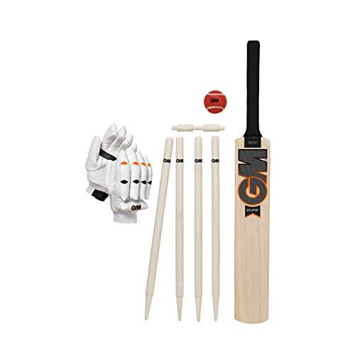 Gunn & Moore Unisex, Jugendliche Eclipse Cricket-Set, weiß, 34
