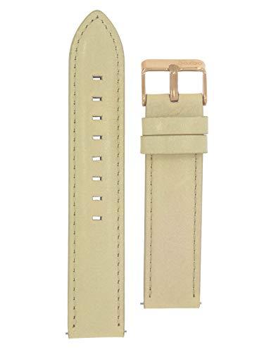 Oozoo Armband - Ersatzarmband mit rosefarbener Schließe für Oozoo Uhren etc. - 20 mm - Farbe : Sand
