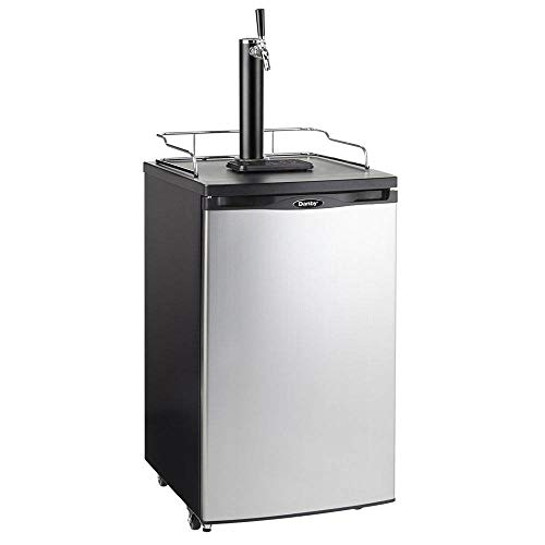 Danby Single Tap 5.2 Cubic Ft. Spotless Steel Home Beer Kegerator Beer Dispenser