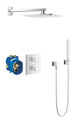 GROHE Grohtherm Cube | Thermostat - Duschsystem mit Thermostatbatterie und Kopbrause | chrom | 34506000
