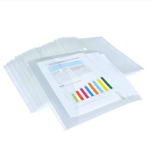Rapesco 1497 Lot de 50 Pochettes Porte-documents - Format A4+ - Transparent