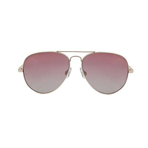 Ocean Sunglasses Banila Aviator - Gafas de Sol metálicas - Montura : Dorada - Lentes : Rosas (18110.12)