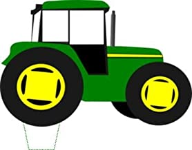 Novelty Green Tractor 12 Edible Stand up wafer paper cake toppers (5 - 10 BUSINESS DAYS DELIVERY FROM UK)