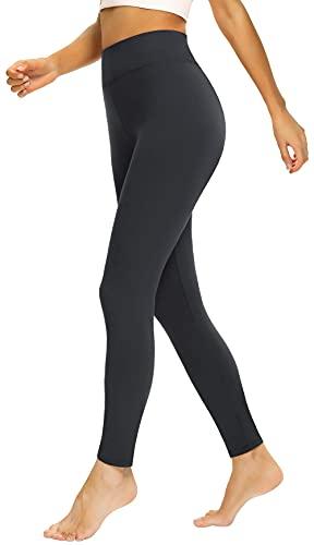 Beelu Damen Leggings Lange Hohe Taille Frauen Weich Blickdicht Pants Super Stretch Streetwear