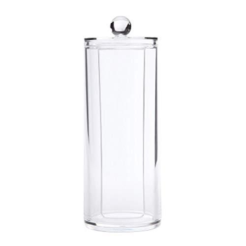 TOPBATHY Organisateur de Maquillage Transparent Porte-Distributeur de Coton Rond Contenant de Tampon de Coton de Stockage cosmétique