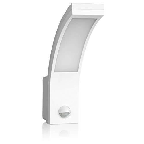 SEBSON LED Aussenleuchte mit Bewegungsmelder, Wandleuchte weiß, 15W, 1000lm, kaltweiß 5800K, IP54, Außenwandleuchte Sensor 9m / 140°