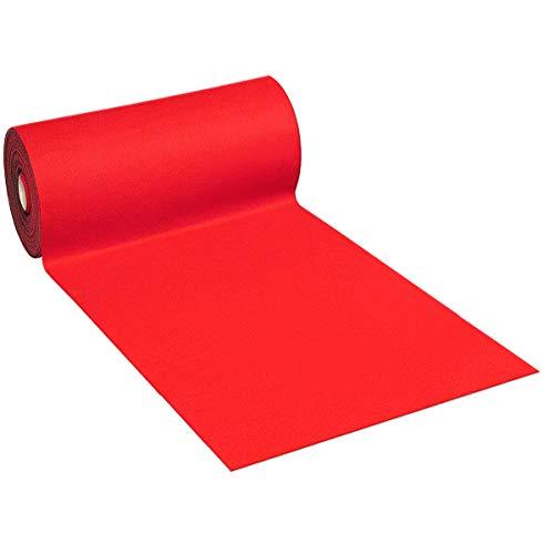 emmevi Alfombra de moqueta roja al metro, 100 cm de altura, antideslizante, para la entrada o la tienda, modelo punzonado rojo