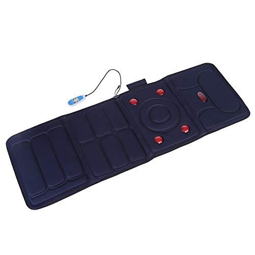 Faltmassage Matratze Multifunktionshaushalt Elektrische Nackenmassagegerät Nacken Rücken Taille Massagekissen,Blau