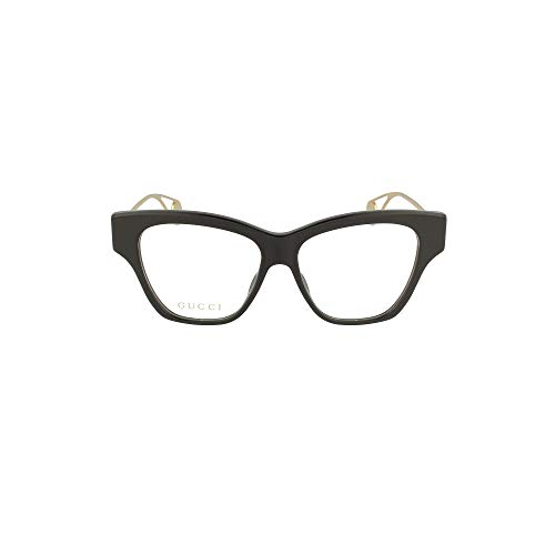 Gucci GG0438O-001-52 Brillengestell, Schwarz glänzend, 52.0 Unisex-Adulto
