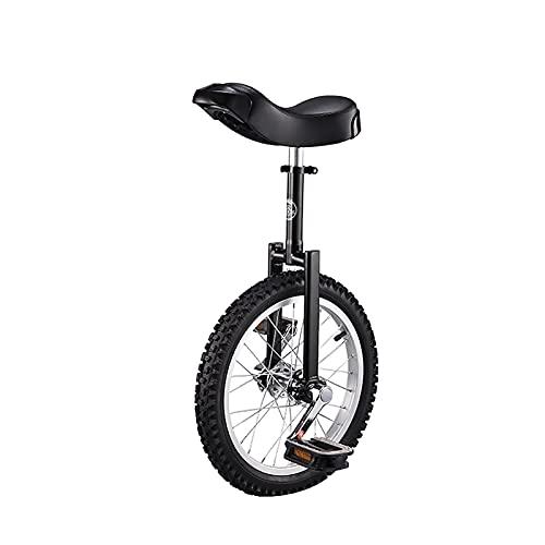 Monociclo 16'Entrenador para Niños/Adultos Monociclo Monociclo Profesional Ajustable En Altura con Soporte para Monociclo, 4 Colores Disponibles (Color: Blanco, Tamaño: 16 Pulgadas) Durable