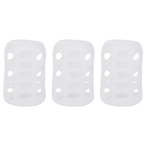 Cabilock Babyflasche Abdeckung Silikon Milchflasche Schutzhülle Anti-Drop-Hülle Schützen Isolierung für Zuhause Reise 120ML 3 Stück