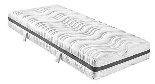 sleepling 7-Zonen Tonnentaschenfederkern Matratze Comfort 130 TFK mit Kaltschaumauflage und Klimaband - Härtegrad 3 90 x 200 x 18 cm, weiß
