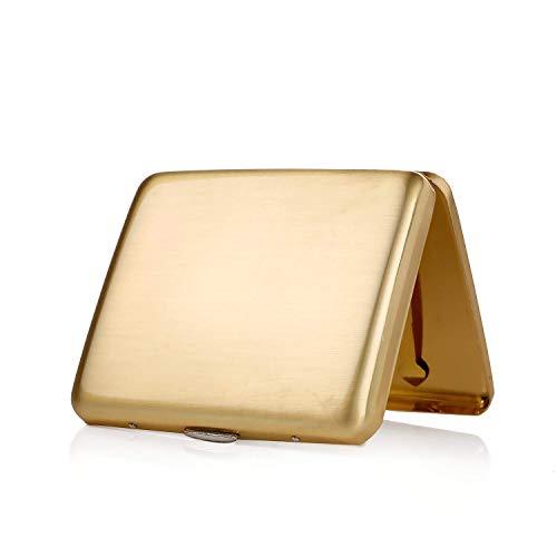 hopewey Hopewey Zigarettenetui Metall Zigarettenschachtel für 20 Zigaretten, antik Zigarettenetui elegantem Aussehen und besonderem Qualitäten (Gold)