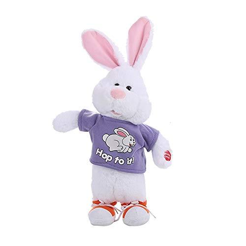 Wawer Plüsch Hase Spielzeug Tanzen Singen Musik Intelligentes Spielzeug Elektrisches Spielzeug Entzückende Gefüllt Plüschtier Weihnachtsgeschenk für Kinder