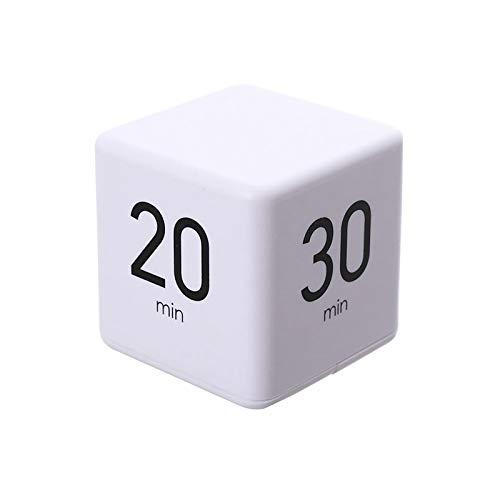 ACELEY Cube Timer Digital con Pantalla LCD Muestra la Hora, Temporizador de Cocina, Reloj Despertador, fácil operación, Temporizador de Entrenamiento, Alarma para Cocina (15 20 30 60 min)